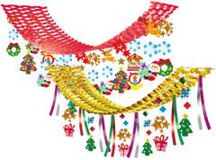 クリスマス プリーツハンガー装飾